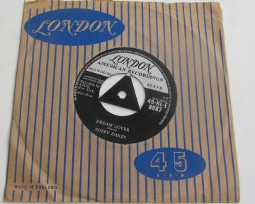 "Bobby Darin DREAM LOVER  1958  TRI-CENTRE UK 7"" MINT MINUS AUDIO"